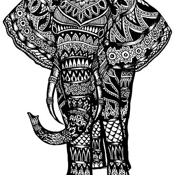 Elephant Aztec Design  by toshibung
