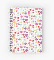 Watercolour Cherry pattern Spiral Notebook