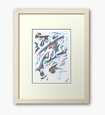 0205 - Daemon flying fast Framed Print