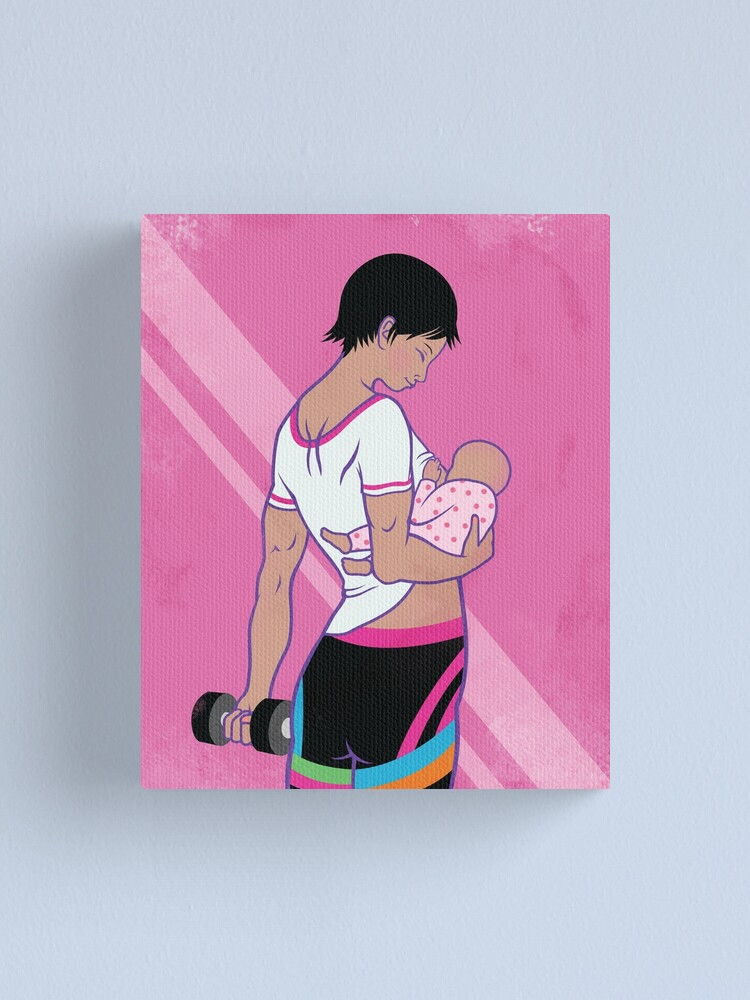 Alternate view of Mother Work Out  Canvas Print