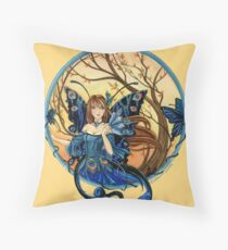 Peacock Fairy Throw Pillow