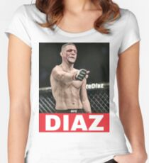 nate diaz 209 Women's Fitted Scoop T-Shirt