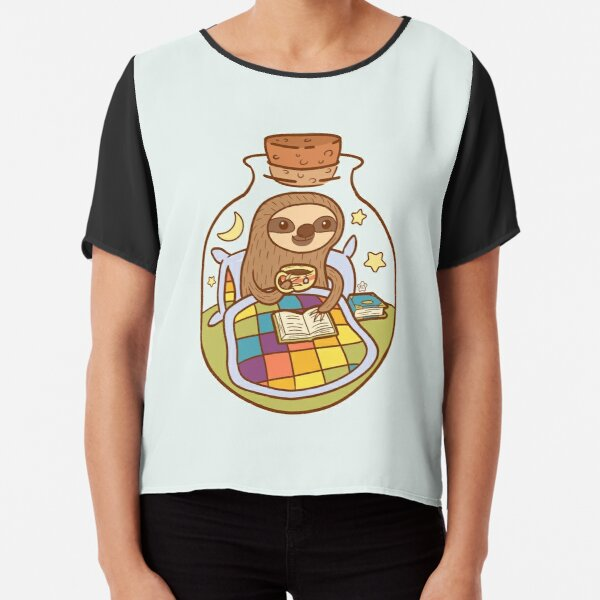 Sloth in a Bottle Chiffon Top