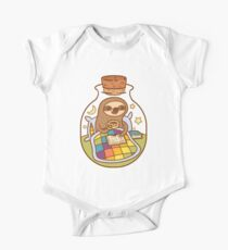 Sloth in a Bottle One Piece - Short Sleeve