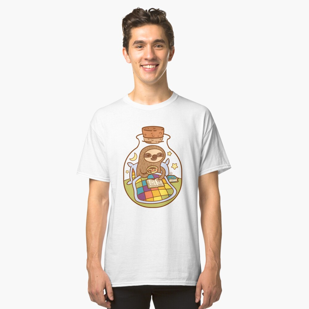 Sloth in a Bottle Classic T-Shirt Front