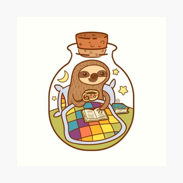 Sloth in a Bottle Art Print