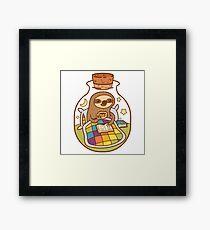 Sloth in a Bottle Framed Print