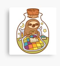 Sloth in a Bottle Canvas Print