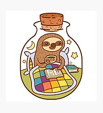 Sloth in a Bottle Photographic Print