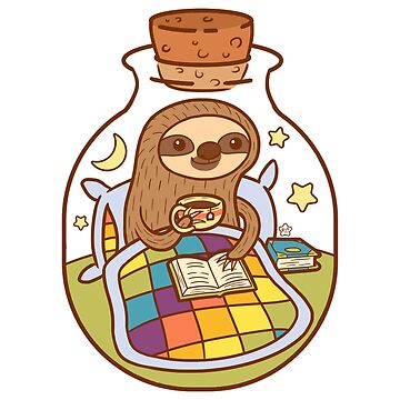 Sloth in a Bottle by katiecrumpton