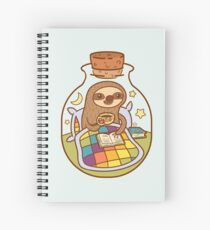 Sloth in a Bottle Spiral Notebook