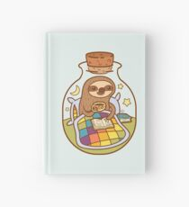 Sloth in a Bottle Hardcover Journal