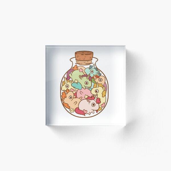 Botella de unicornios Bloque acrílico
