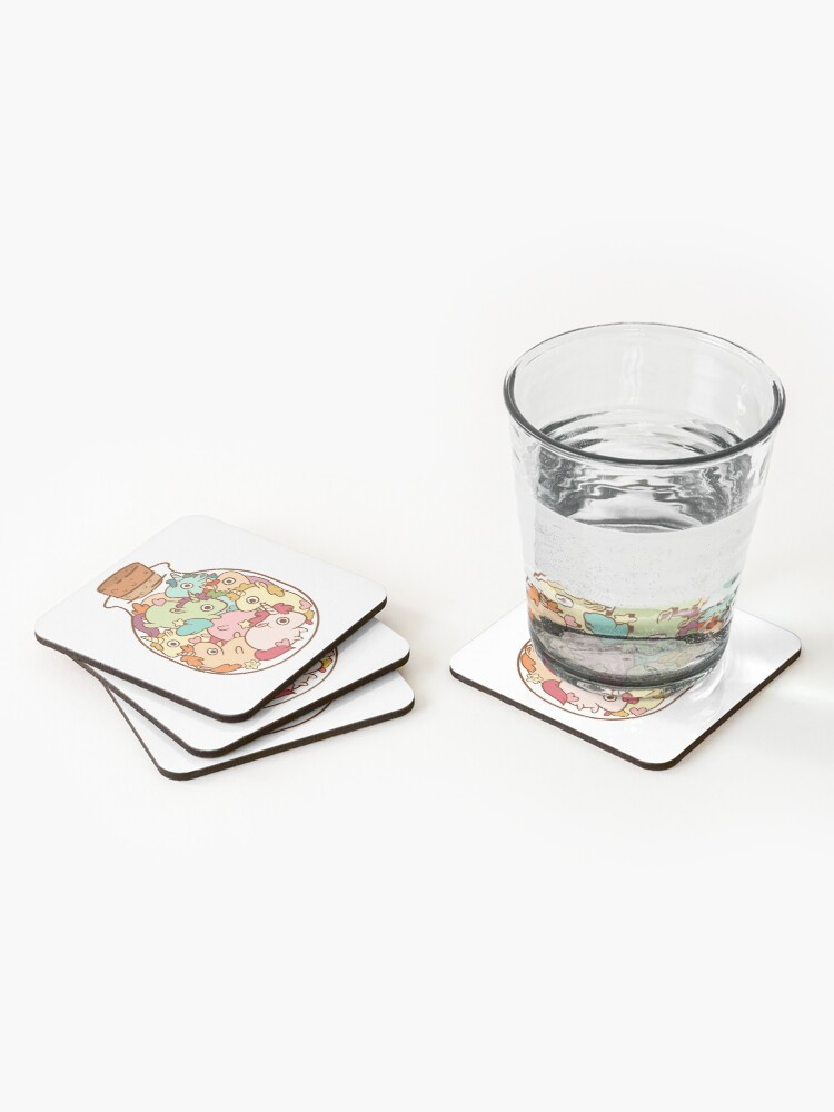 Alternate view of Bottle of Unicorns Coasters (Set of 4)