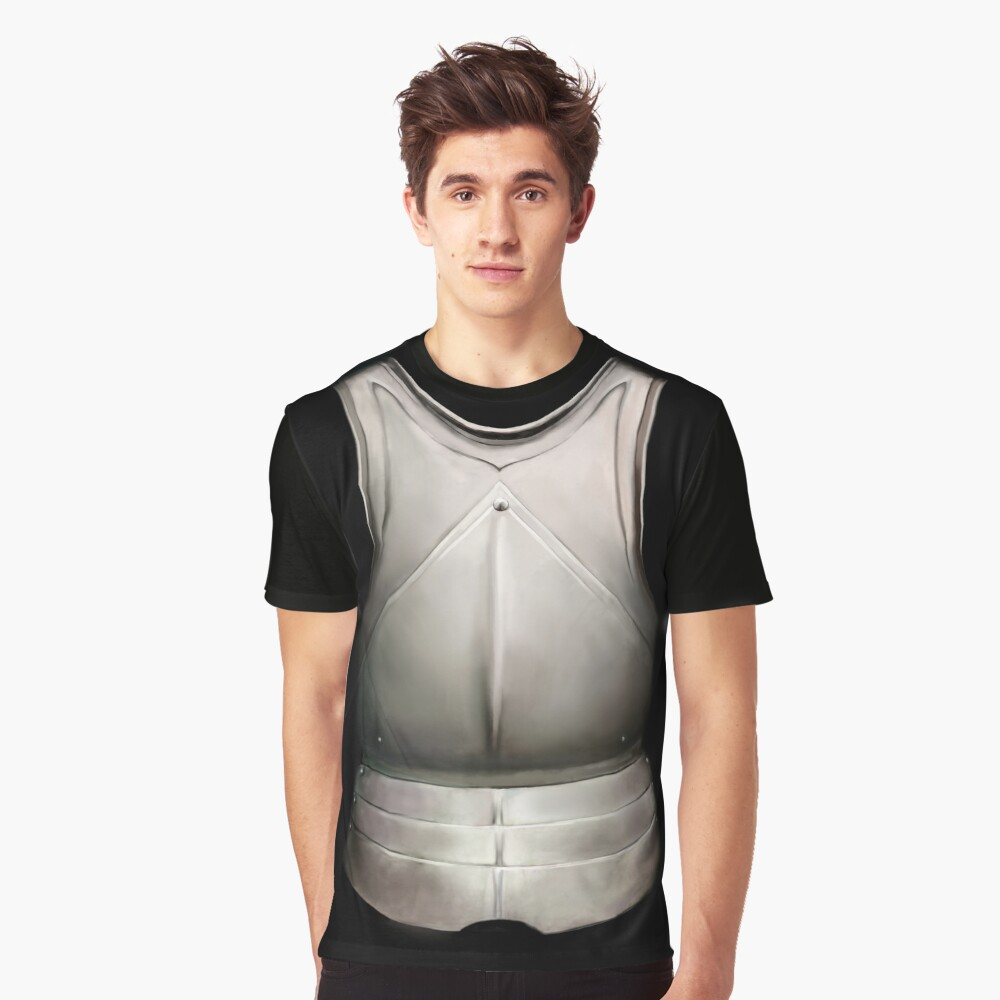 15th Century Cuirass Design Graphic T-Shirt Front