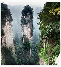 Mountain spire in Zhangjiajie National Forest Park China art photo print Poster
