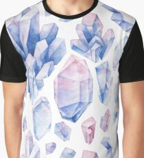 Watercolor pastel colored crystals Graphic T-Shirt