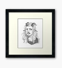 Of Course They're My Real Horns, Karen - white/transparent Framed Print