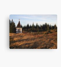 Abandoned Steeple at Burnt Head Graveyard Canvas Print