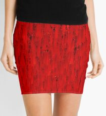 Red Rain Mini Skirt