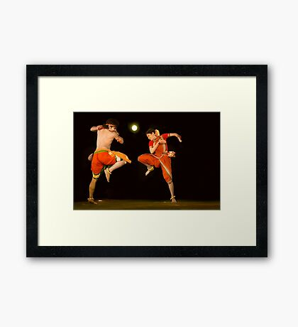 Contemporary Indian Classical Dance-2-Mamata Shankar Ballet Troupe  Framed Print