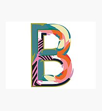 Alphabet illustration - letter B Photographic Print