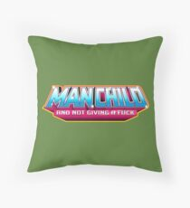 Man Child - And Not Giving A Fuck Throw Pillow