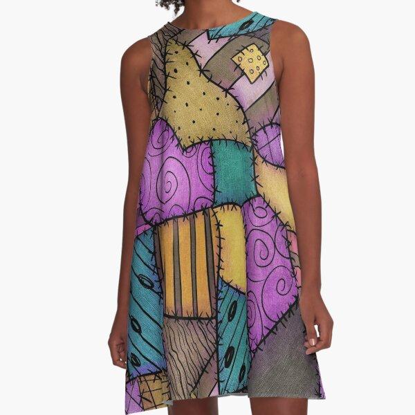 Patchwork Scraps A-Line Dress