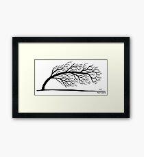 Windblown Tree Framed Print