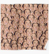 CAGECEPTION - Nicolas Cage faces meme Poster