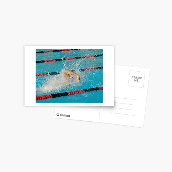 Swimmer power waves capture during a swim meet Troy H.S. Fullerton, CA 4-5-2005 Postcard