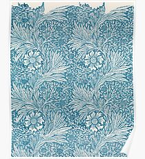 Marigold Floral Pattern by William Morris, 1875  Poster