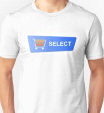 Blue Select Button T-Shirt