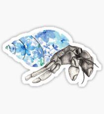 Chill Floral Hermit Crab Sticker