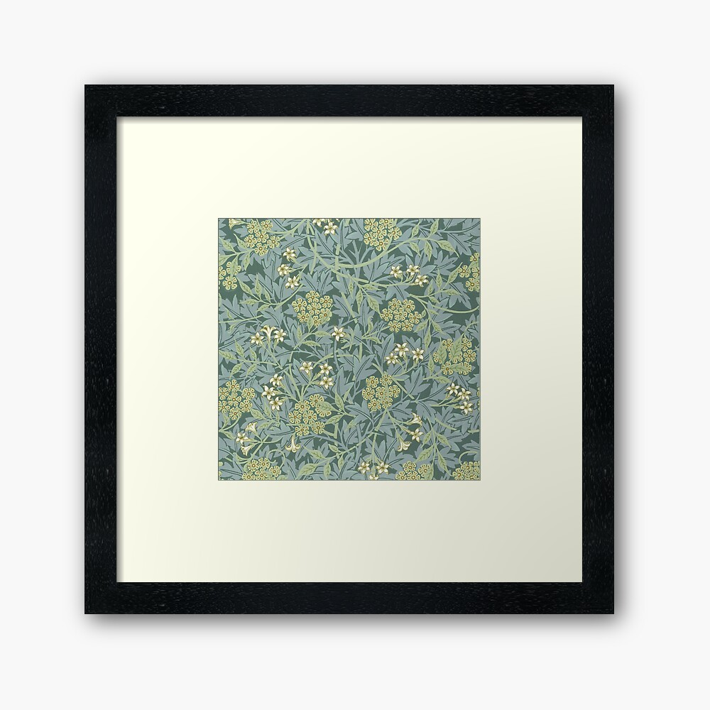 Jasmine Pattern by William Morris, 1872 Framed Art Print