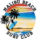 Malibu Beach Surf Club California Surfer Surfing Ocean by MyHandmadeSigns