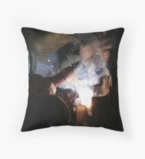 The Welder Throw Pillow
