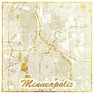 Minneapolis Karte Gold von HubertRoguski