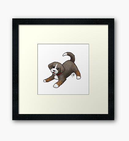 Custom Dog - Newdle Framed Print