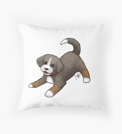 Custom Dog - Newdle Throw Pillow