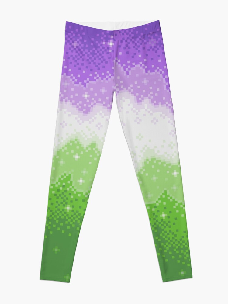 Alternate view of Genderqueer Pride Galaxy Leggings