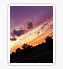 Sunset Photography Print Sticker