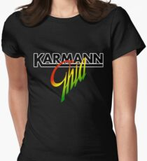 Karmann Ghia BIG SCRIPT REGGAE Women's Fitted T-Shirt