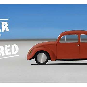 Water Not Required -  VW Beetle On Salt Flats by UKMatt2000