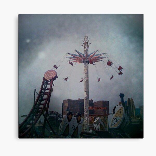 Top of the World - Coney Island Brooklyn Art Photo - Brooklyn Lover Gift Canvas Print