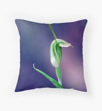 snail orchid  Throw Pillow