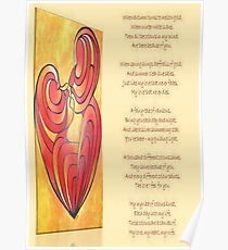 A Canvas Of My Love, My Heart, My Wife Greeting Card Poster