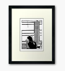 Woman In Window Framed Print