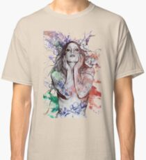 The Withering Spring: Wine (nude tattoo woman, magnolia street art drawing) Classic T-Shirt