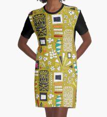 tiki yellow Graphic T-Shirt Dress